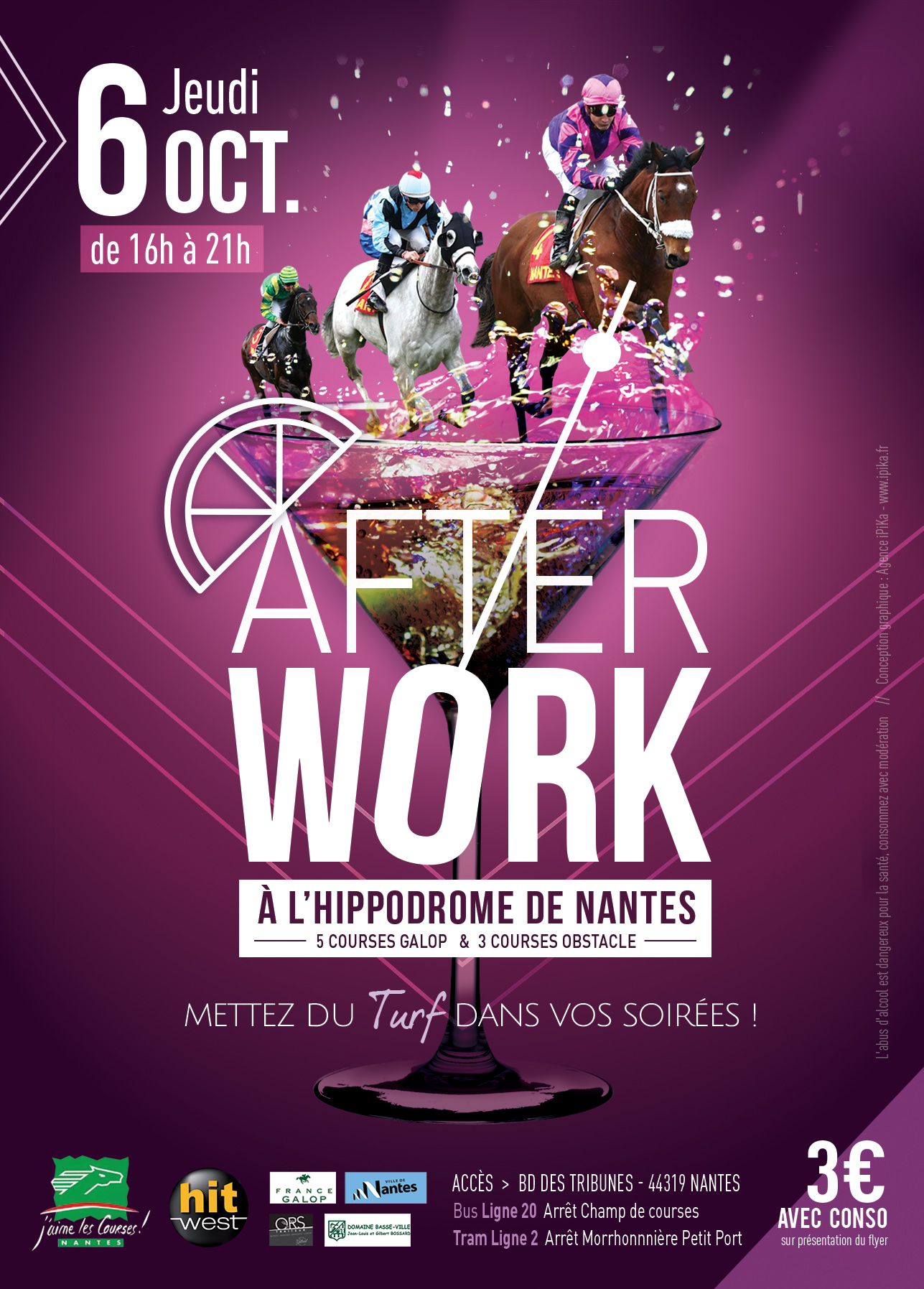 L'Hippodrome de Nantes organise son « After Work » le 6 octobre