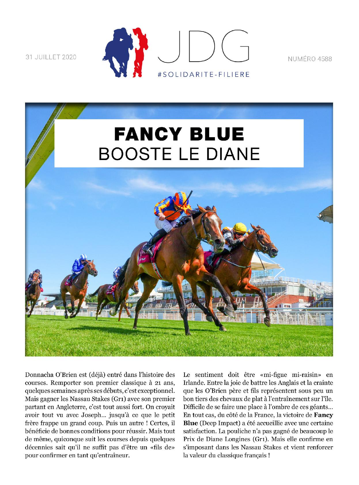 Fancy Blue booste le Diane