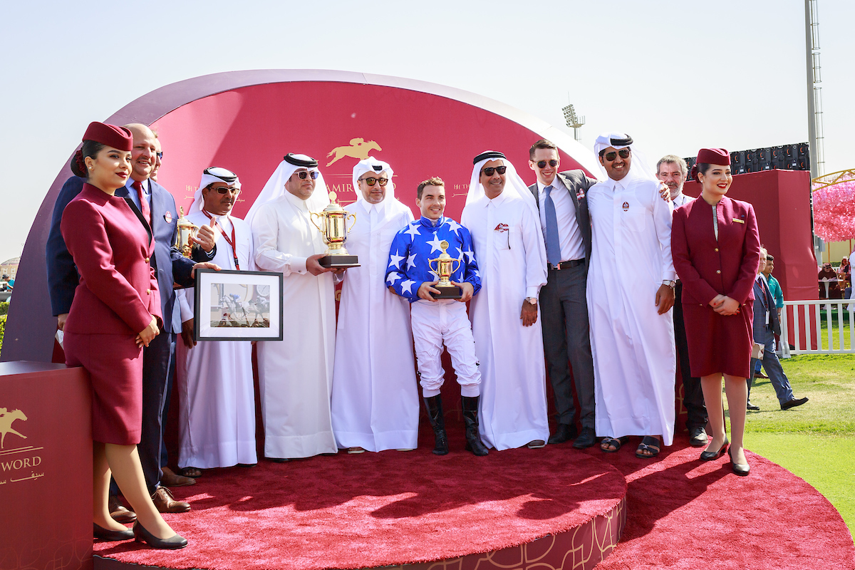QATAR INTERNATIONAL CUP - METHGAL CLEANS UP IN THE MILE