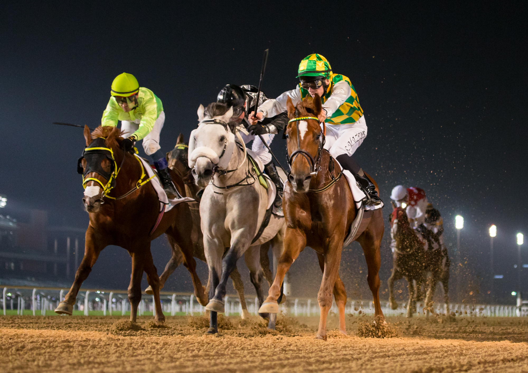 AL MAKTOUM CHALLENGE ROUND I - Wadeeaa proves unflinching on the dirt